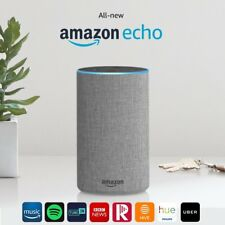 New Amazon Echo Smart Alexa Speaker (2nd generation) - Heather Grey Fabric !!!