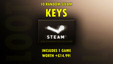 Random and PREMIUM Steam Key Loot (10 PACK: Guaranteed x1 +£14.99 GAME)