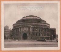 Royal Albert Hall Music Concert London England 1920s Ad Trade Card
