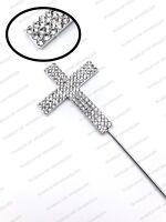 Diamante Cross, Holy Communion, Christening Cake Topper UK Seller