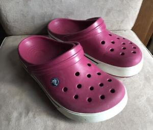 Ladies pink Crocs size 7