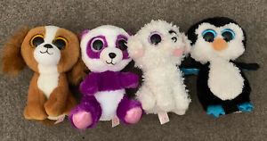 Beanie Boo Penguin, 2 X Dog, Monkey