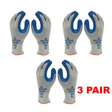 Atlas Showa 300 Size Large Rubber Coated Gloves 3 Pair