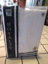 NIP: Vintage Visa by Milliken WHITE 52 x 70 SATIN STRIPE Polyester Tablecloth ~