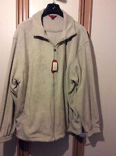 Men's Zip Through Sweatshirt Jacket Cream BNWT Size XXXL 3xl RRP £30