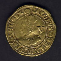 Great Britain. (1641-43) Charles 1 - Gold Crown.. MM- Triangle in Circle.. Fine+