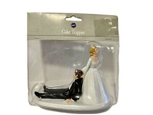 Wilton Humorous Wedding Cake Topper-Bride Dragging Groom-New