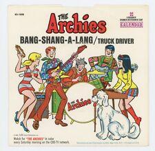 The Archies 1968 Calendar 45rpm Bang-Shang-A-Lang b/w Truck Driver