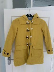 Boden Mustard Yellow Duffle Coat 9-10 years