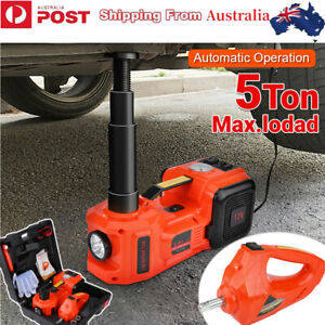 5 Ton 12V 3in1 Car Electric Hydraulic Floor Jack Lift + Impact Wrench Tool Case