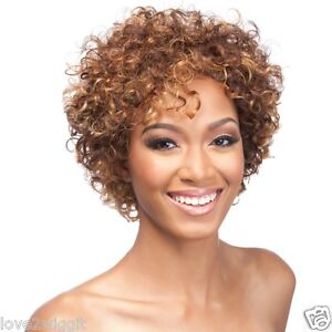 DAMIANA | 100% HUMAN HAIR | BLACK BROWN | CURLY SHORT IT'S A WIG