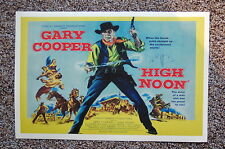 High Noon Lobby Card Movie Poster Gary Cooper