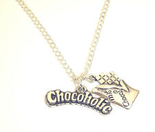 SWeeT CHoCoHoLiC CHaRMs PeNDaNT NeCKLaCe CHoCoLaTe LoVeR iN GiFT BaG