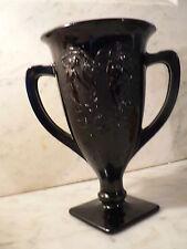 Black Amethyst Glass Trophy Cup  Signed 1934 World Fair
