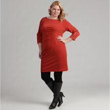NEW Jessica Howard Women's 3/4 Sleeve Side Tucked Stretch Dress Plus Size 20W