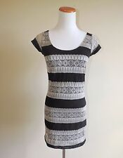 Women's Eight Sixty Tan & Black Lace Dress Size Small
