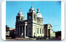 Postcard IN KS Wichita St. Mary's Cathedral 1960s Street View B5