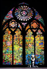 """BANKSY  """"Stained Glass Light""""  Street Artwork / Print on Glossy Paper or Canvas"""