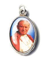 "Saint Pope John Paul II 3rd class 1"" relic medal JP2 KAROL WOJTYLA"