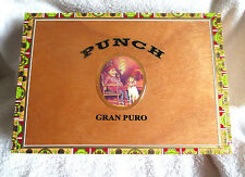 PUNCH SESENTA GRAN PURO WOOD CIGAR BOX - GUITAR SIZE -  NICE - BEAUTIFUL!