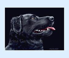 Dog Print Black Labrador by Irina Garmashova