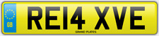 Relax Relaxed number plate RE14 XVE CAR REG FEES PAID RELAXING DRIVE CHILL COMFY