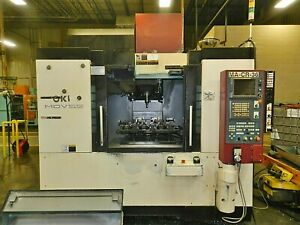 OKK model MDV-55 CNC Vertical Machining Center with Fanuc 180iS-MB control-2005