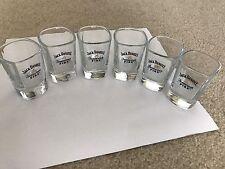 Jack Daniels Tennessee Fire Shot Glasses  - Set of 6 -NEW