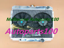 For Ford Fairlane 63-69/Ford Mustang 1967 1968 1969 Aluminum Radiator & Two Fans
