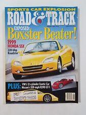 Road & Track Jan 1998 Mercedes-Benz CLK320 - Jaguar XJR - BMW 323is - 1999 Honda