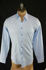 AUTH Gucci Men Blue Long Sleeve Shirt 15.5 39