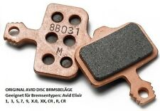 Original Avid elixir disc balatas cochuras metal para Avid 1 3 5 7 XX XO CR