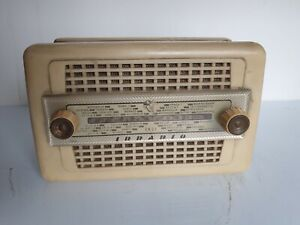 Radio Irradio Radio Epoca A Valvole Da Comodino