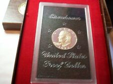 1973 S KEY ONLY 1M MINTED BROWN IKE EISENHOWER DOLLAR 40% SILVER LOT COIN PROOF