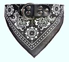Collier 50cm cuir NOIR Bandana pour chien largeur 2,5 cm réglable de 36 à 43 cm