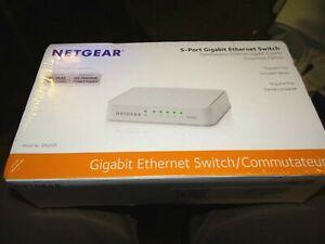 Netgear 5 Port Gigabit Ethernet Desktop Network Switch Hub Internet Splitter