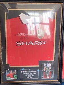 David Beckham Framed And Signed Football Shirt