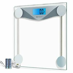 Etekcity Digital Body Weight Bathroom Scale with Body Tape Measure, Large Blue