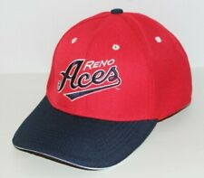 Reno Aces Baseball Hat Cap with Adjustable Strap by Melonwear (Red & Navy)