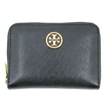 Authentic Tory Burch Saffiano Cardholder Purse Wallet in Black Leather