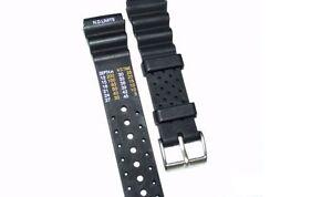 Armband für Citizen Promaster 20 mm, in der Farbe schwarz