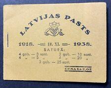 Latvia, Latvija 1938. MH1 Stamp booklets/ Markenheftchen MNH/** unusual full set