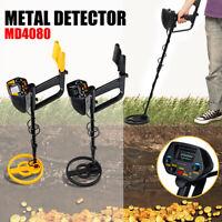 MD4080 Metal Detector Gold Digger Tool Deep Sensitive Search Coil LCD