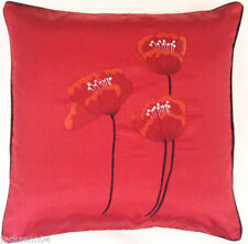 Faux Silk Embroidered Decorative Cushion Covers