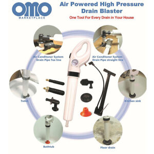 Toilet Clean High Pressure Air Drain Blaster Pump Plunger Sink Pipe Clog Remover