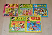 lot 5 Albums Mickey Poche mensuels n°101 106 109 117 121 - Disney