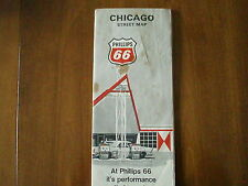 New listing 1969 Phillips 66 street map of Chicago