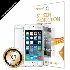 iPhone 5S Screen Protector 3x Anti-Scratch HD Clear Front Back Body
