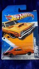 Hot Wheels '69 Dodge Coronet Superbee Orange Die-cast Muscle Mania Mopar '12