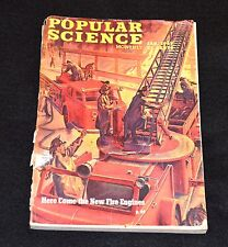 Original Popular Science Jan 1947 with Fire Engine Cover